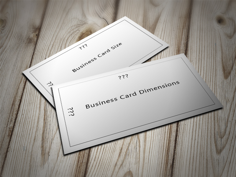 Image asking for Business Card Dimensions and Standard size of business cards