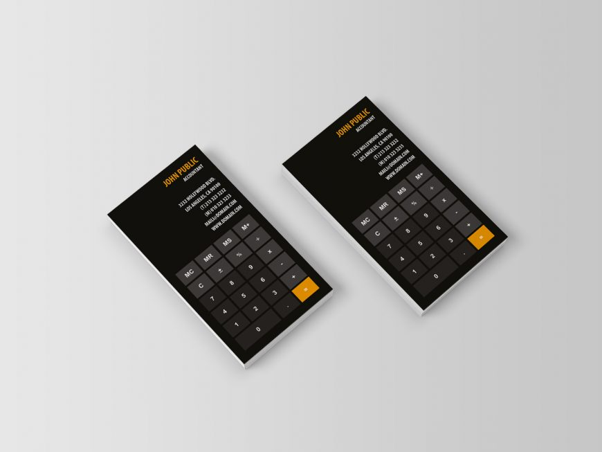 Accountant Calculator Business Cards - J32 DESIGN