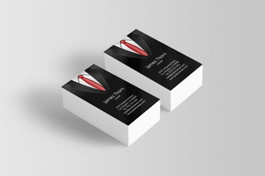 Black Suit Business Cards - J32 DESIGN