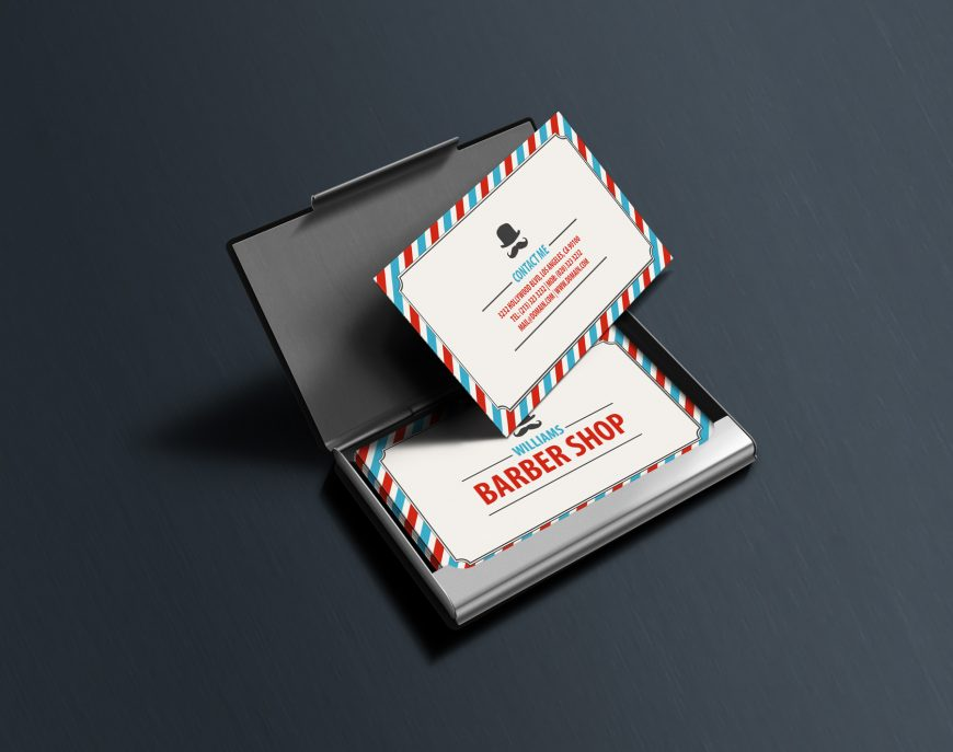Classic Barbershop Business Cards - J32 DESIGN