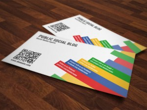 Social Media QR-Code Business Cards
