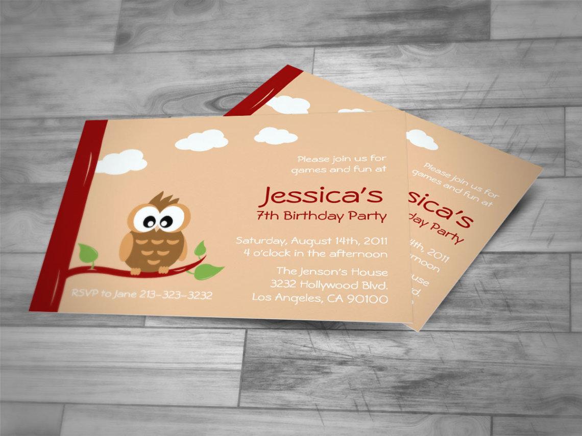 Owl Birthday Invite for good invitations template