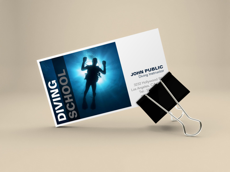 Diving School Business Cards - J32 DESIGN