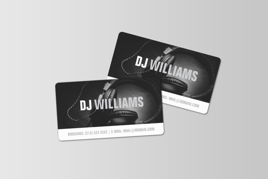 Black and White Business Cards for DJ's, Music Producers and Musicians in general