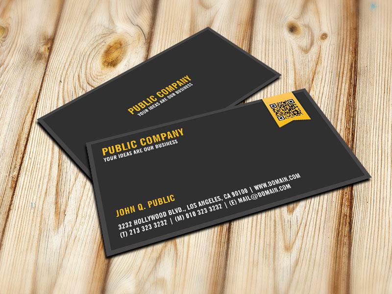 Elegant Corporate QR-Code Business Card - J32 DESIGN
