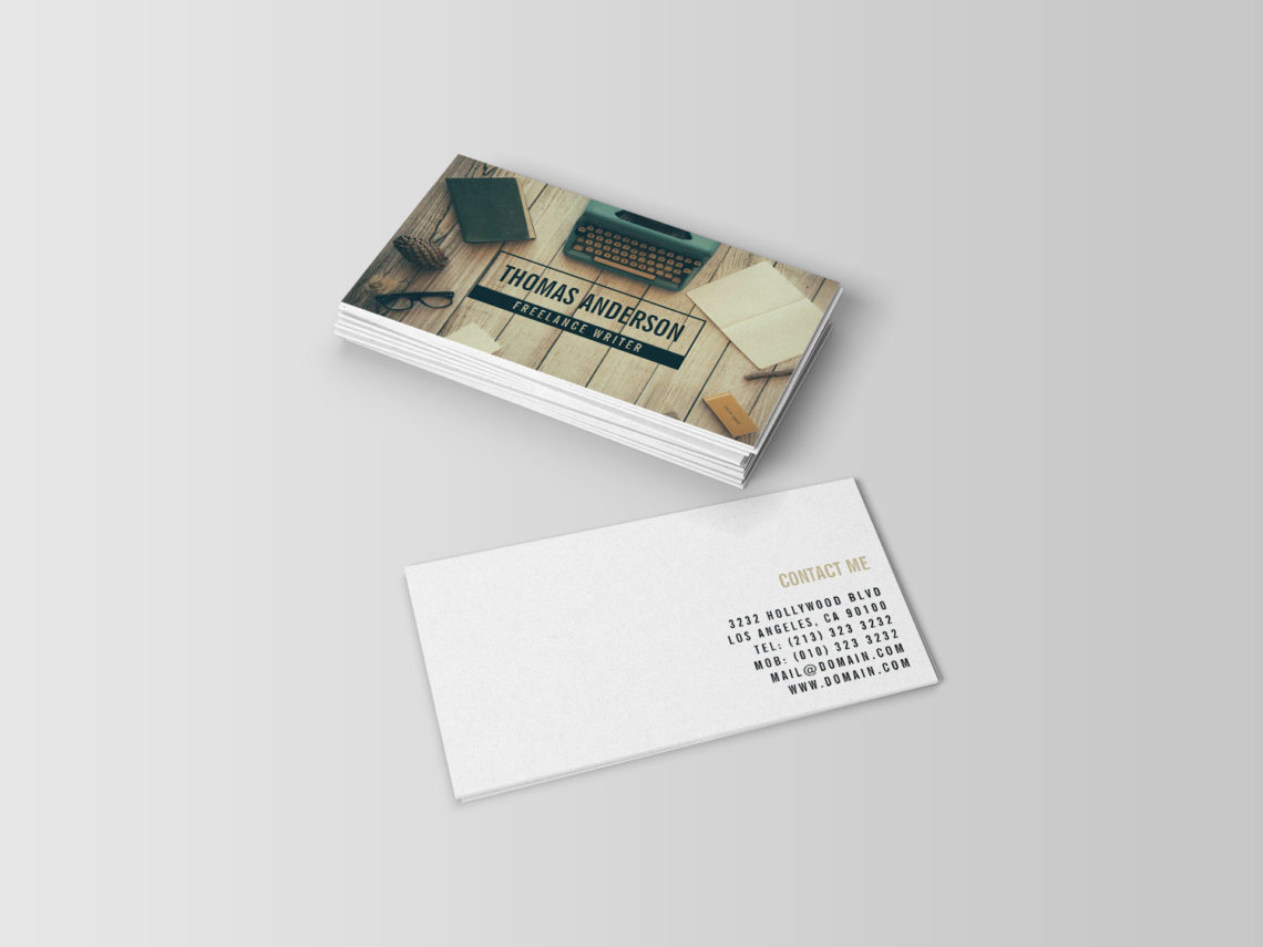 Freelance writer business cards j32 design for Freelance business cards