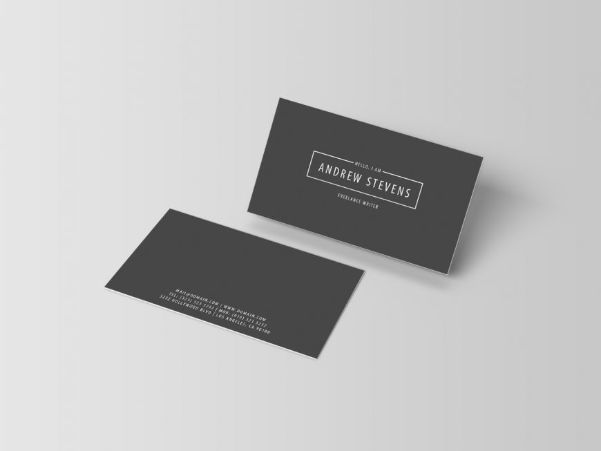Minimal Dark Business Cards