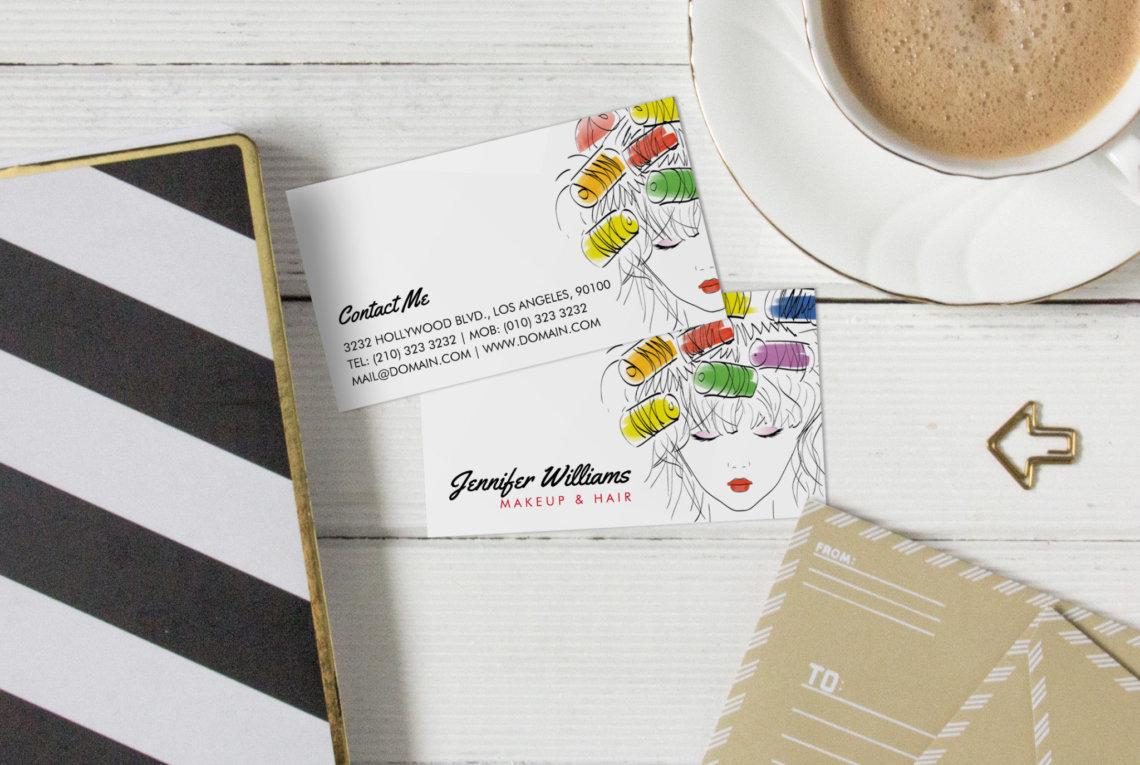 modern colorful hair stylist business cards j32 design
