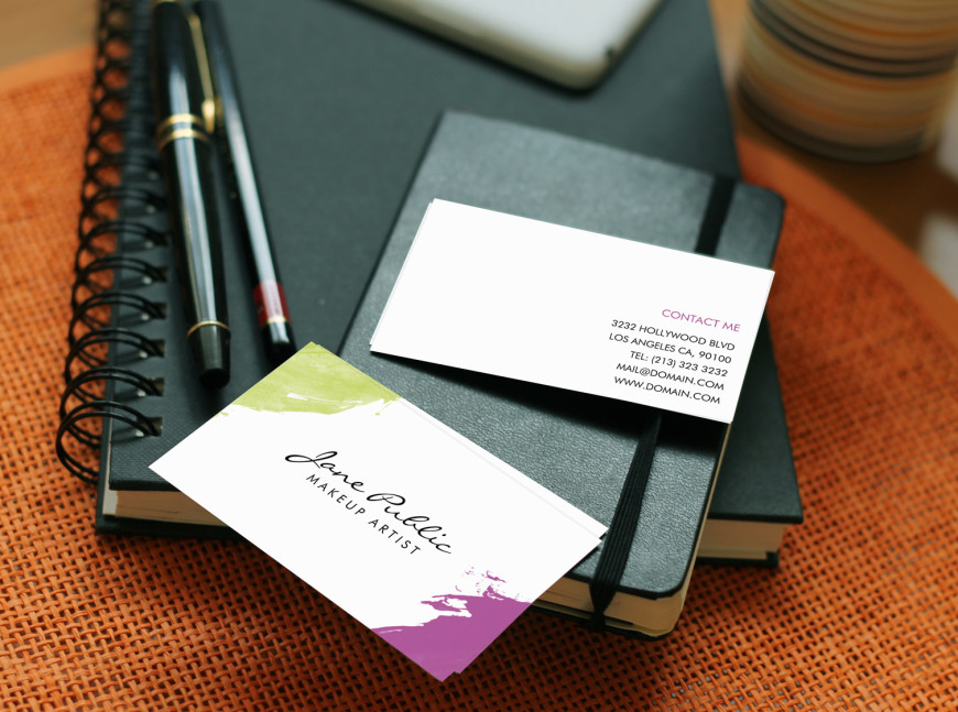 Modern Makeup Artist Business Cards - J32 DESIGN