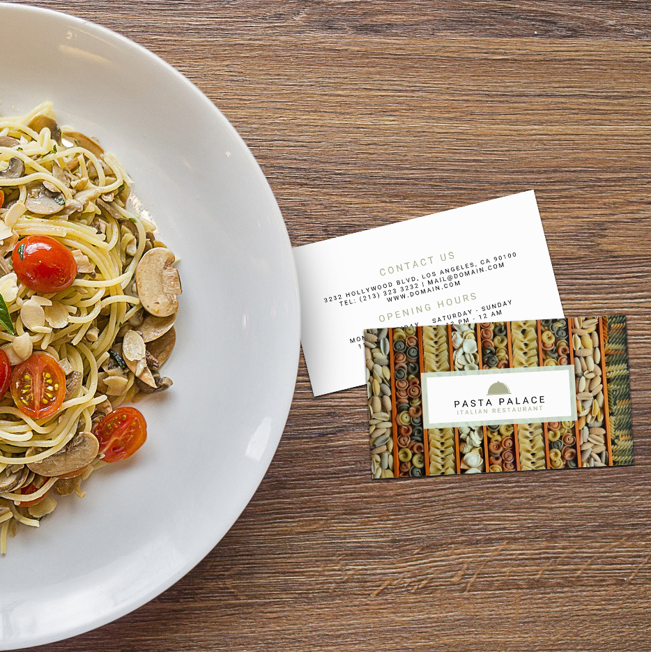 Pasta Restaurant Personal Chef Business Cards - J32 DESIGN
