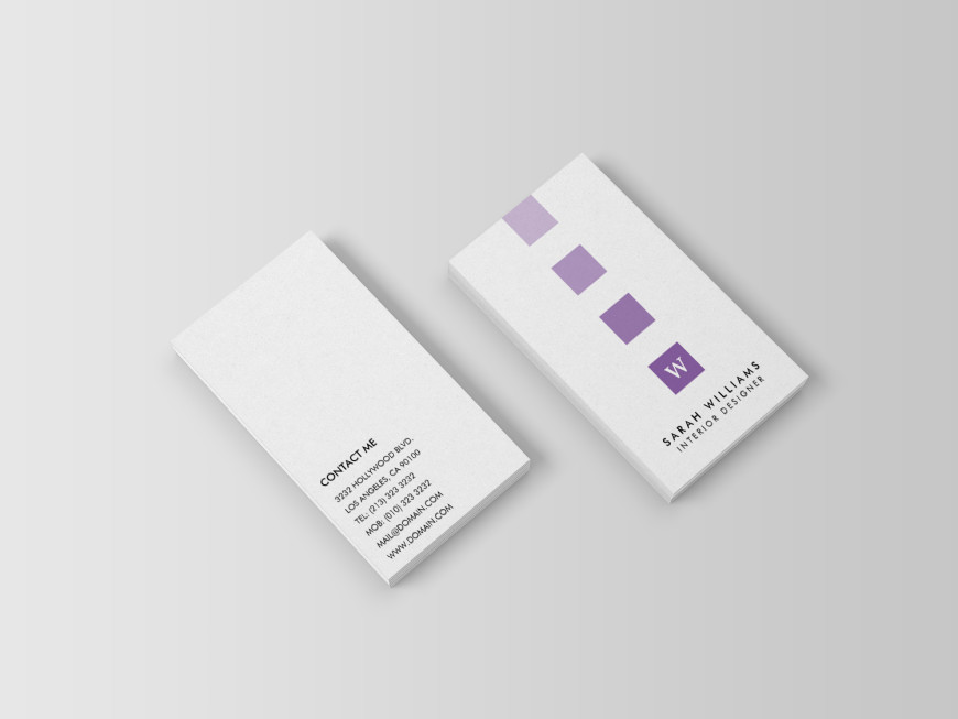 Modern Professional Monogram Business Cards For Interior Designers By J32 Design