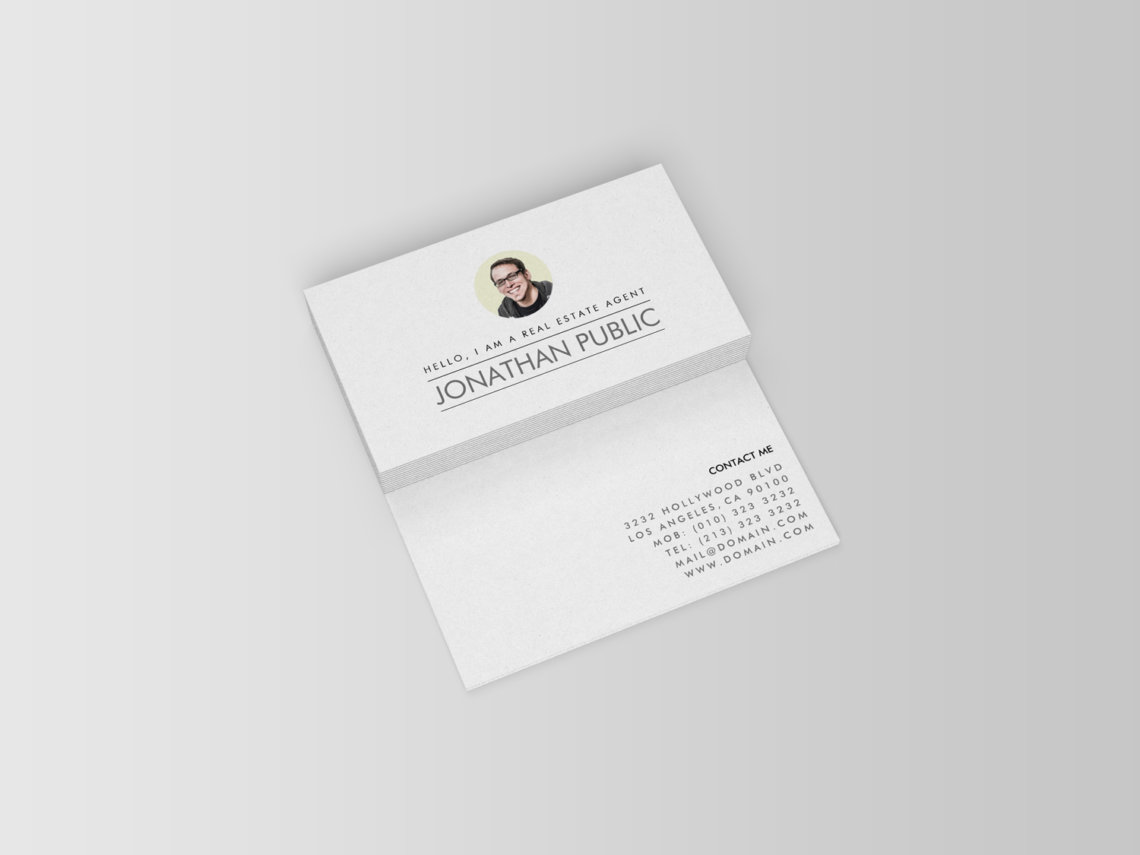 Professional Real Estate Agent Business Cards J32 DESIGN