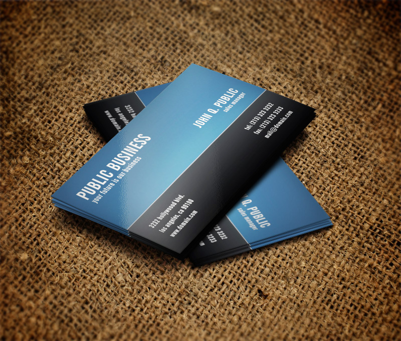 Modern Corporate Black and Blue Business Card - J32 DESIGN