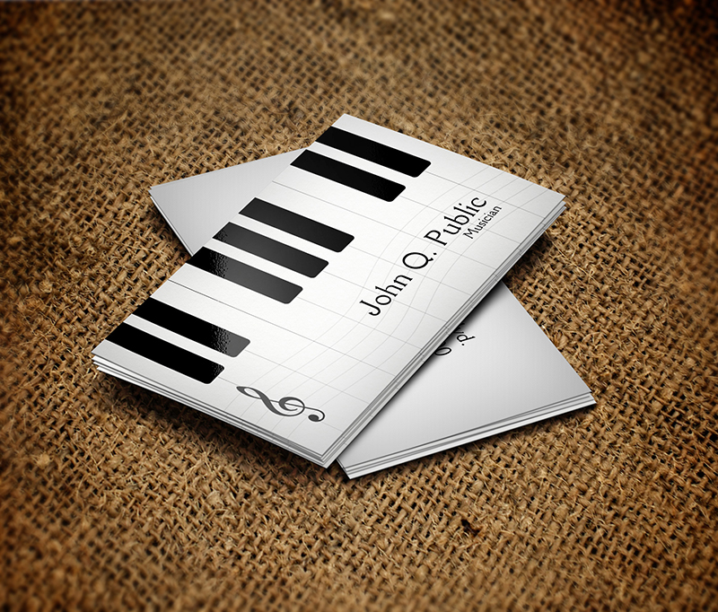 Image of Piano musician business cards