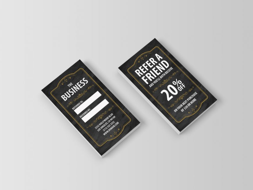 Cards to Refer a Friend for Small Businesses