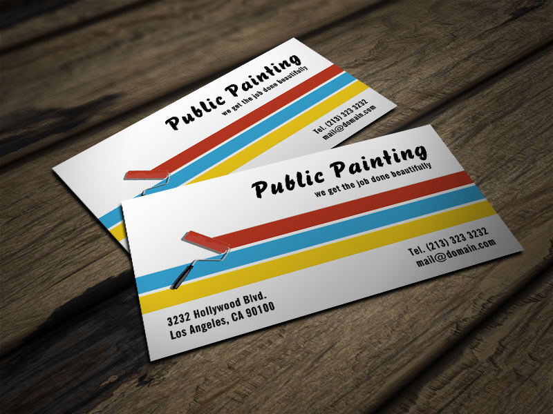 Painter business card j32 design painter business card colourmoves