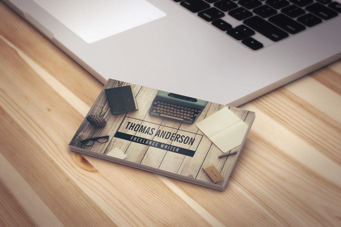 Freelance writer business cards j32 design get them printed reheart Choice Image