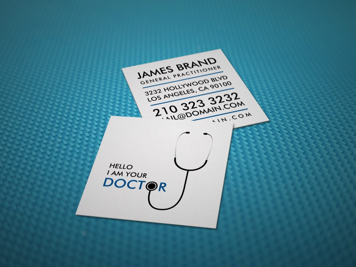 Business cards archives j32 design hello i am your doctor general practitioner square business card reheart Images