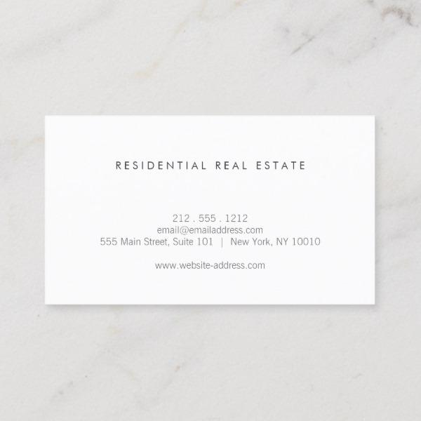 Modern Home Logo On Linen For Real Estate Realtor Business Card