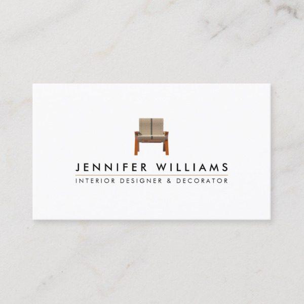Interior Designer Decorator Business Card J32 Design