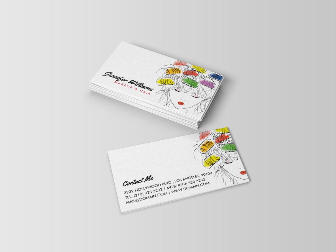 Modern Colorful Hair Stylist Business Cards - J32 DESIGN