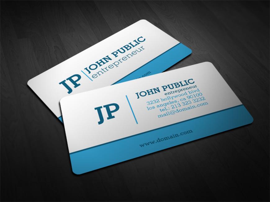 Modern monogram business cards j32 design modern blue and white monogram business cards by j32 design colourmoves