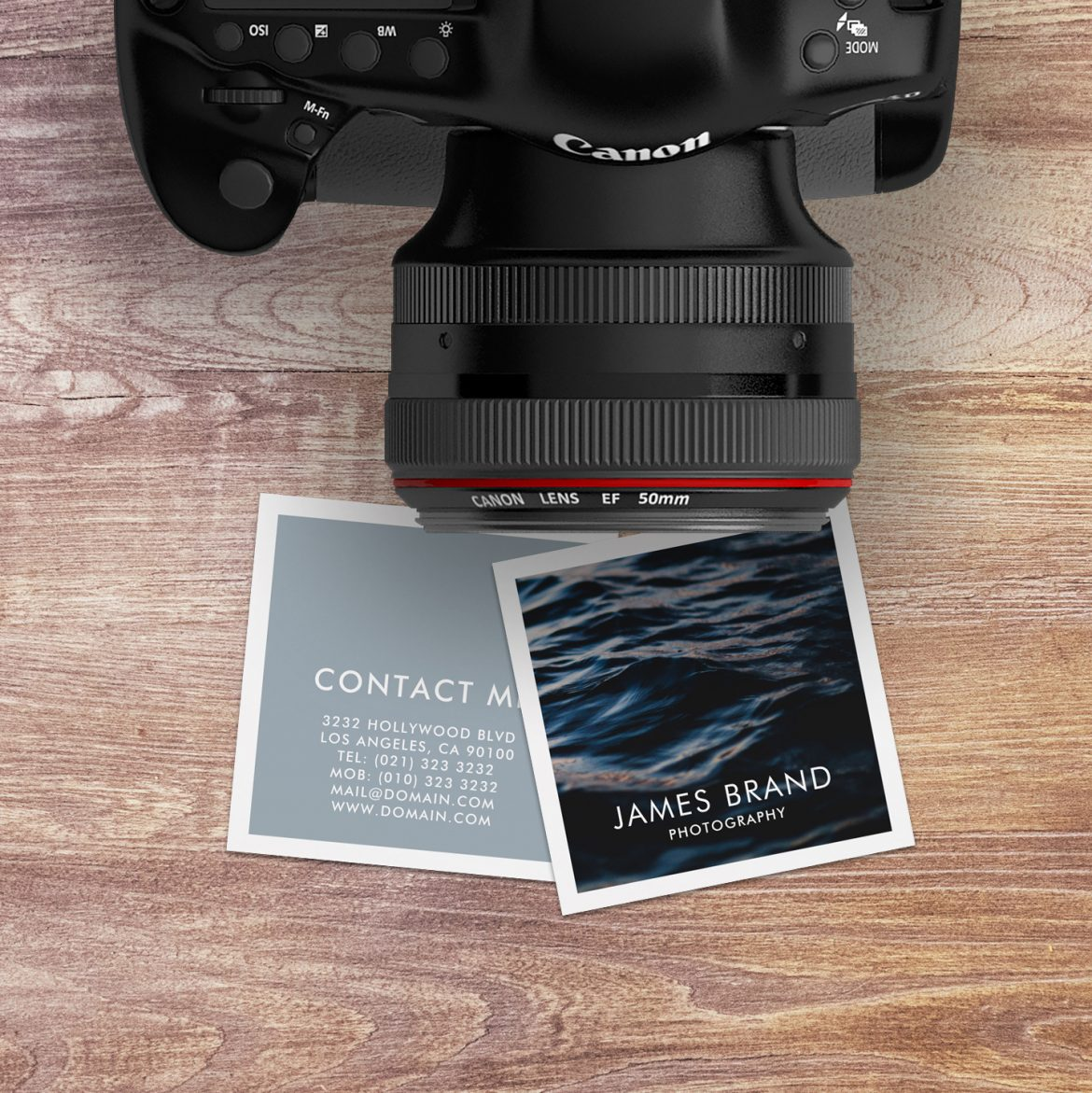 Modern Square Photographer Business Card - J32 DESIGN