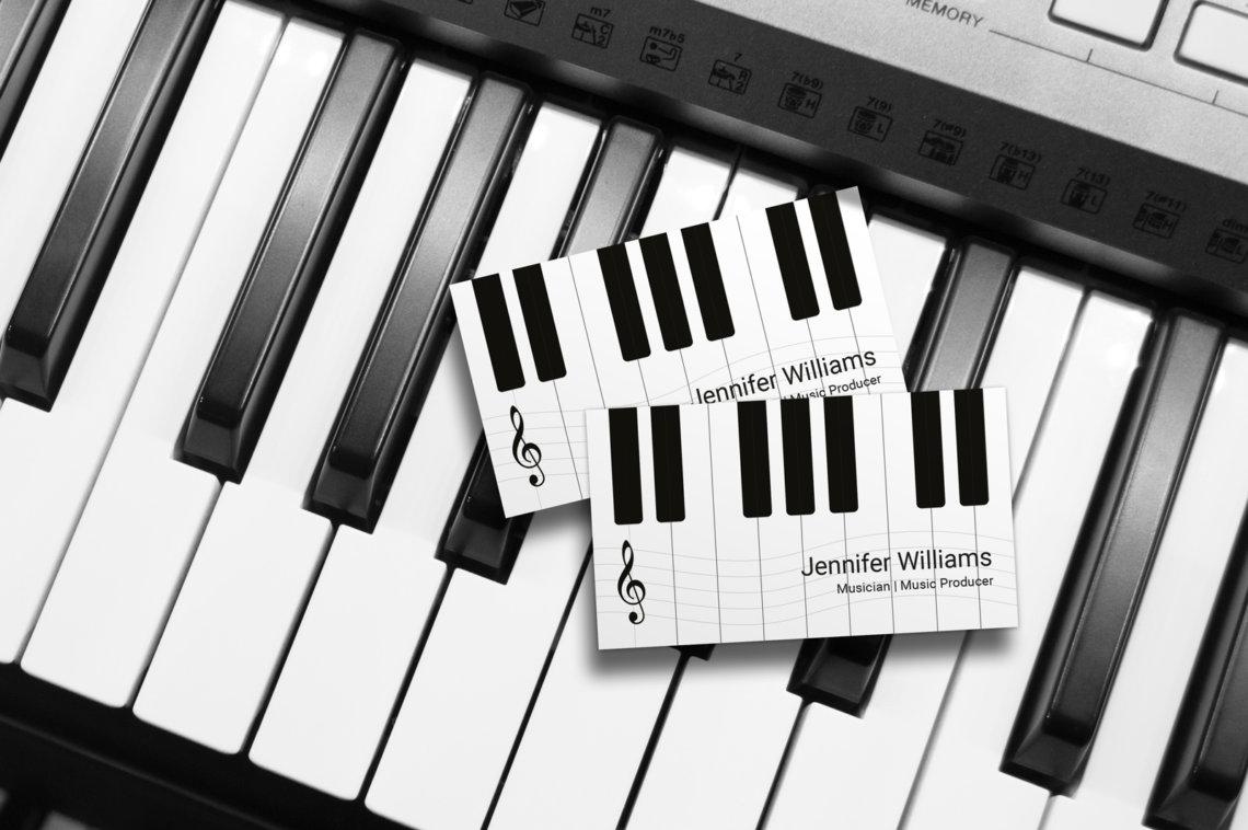 Musician Piano Business Cards J32 Design
