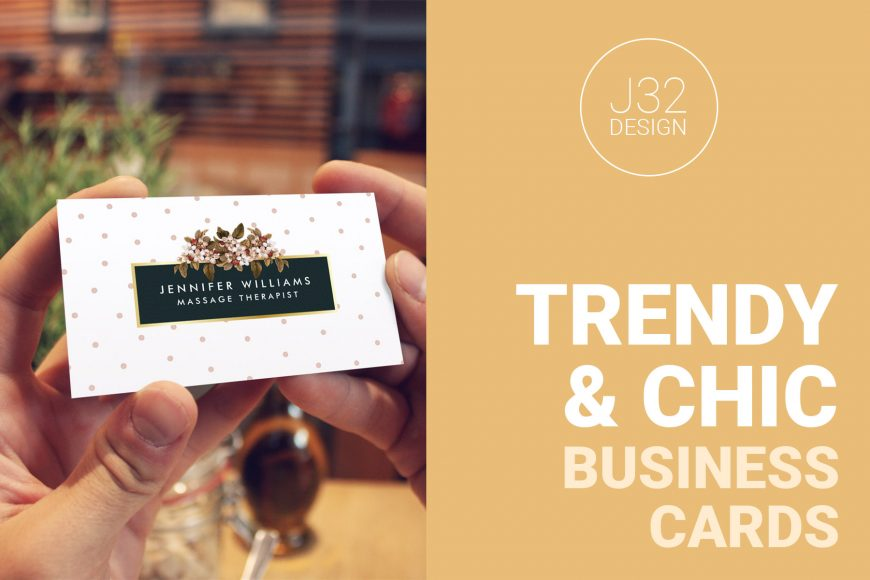 15 trendy and chic business cards that will get your customers attention